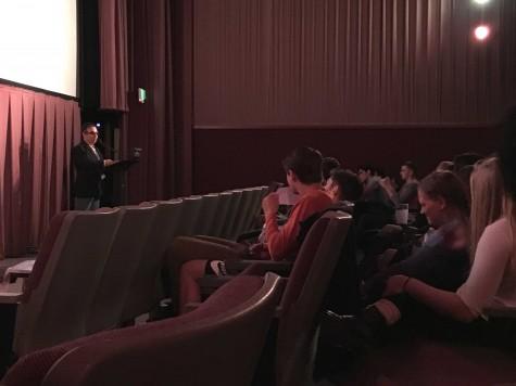 Antonio Medina-Rivera facilitated a bilingual discussion of the Spanish short films.