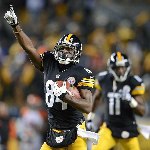 Wide receiver Antonio Brown, pictured here, is our consensus No. 1 pick for the 2016 NFL season.
