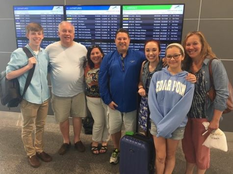 J.R. and Klika's families sending them off at the Cleveland Hopkins International Airport.