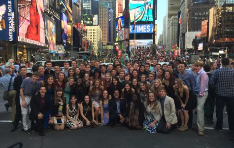 The 2016 Jimmy Awards nominees in Times Square.