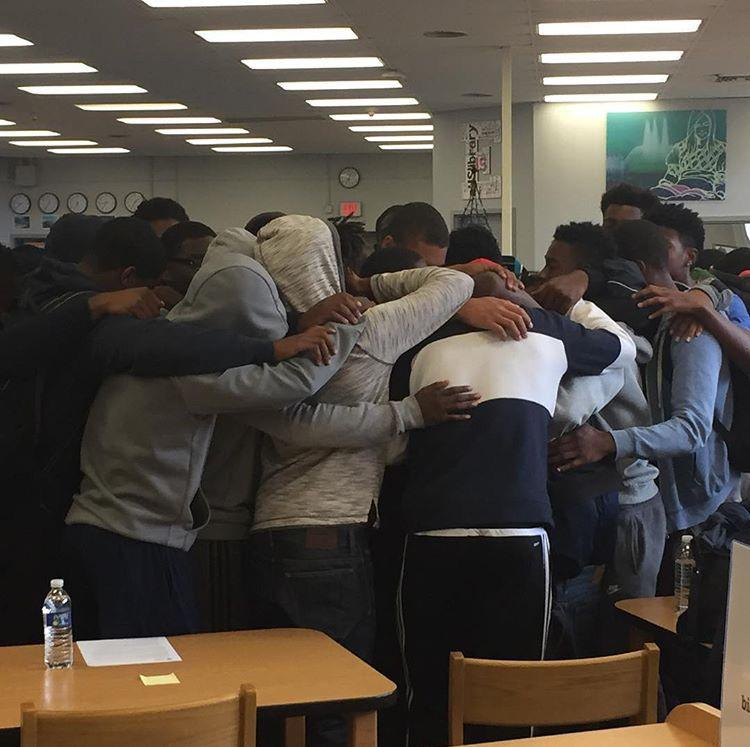 Euclid student gather to mourn the loss of Andre Jackson