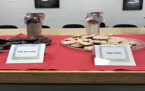 Platters of cookies at the taste test event held by the SHS MH department.