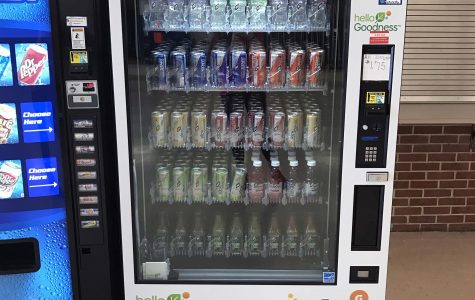 The new vending machines are located in senior commons and the cafeteria.