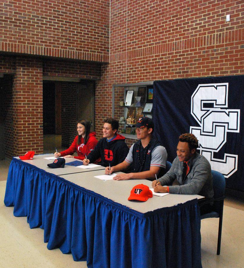 SHS student athletes commit to college