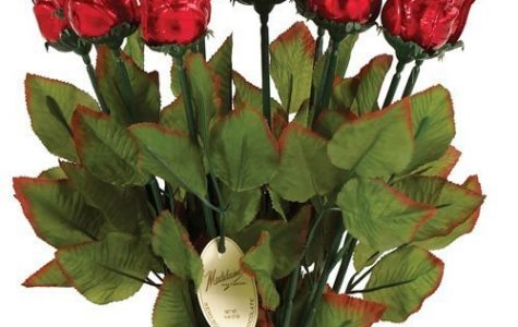 Chocolate roses make for a sweet gift.