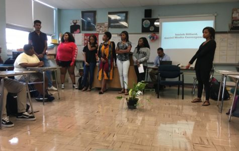 Club officers from left to right: Isaiah Dillard, Ammria Carter, Cayla Roberts, Torah HUdson, Jayla McCoy and Kadijah Weaver-Berid.