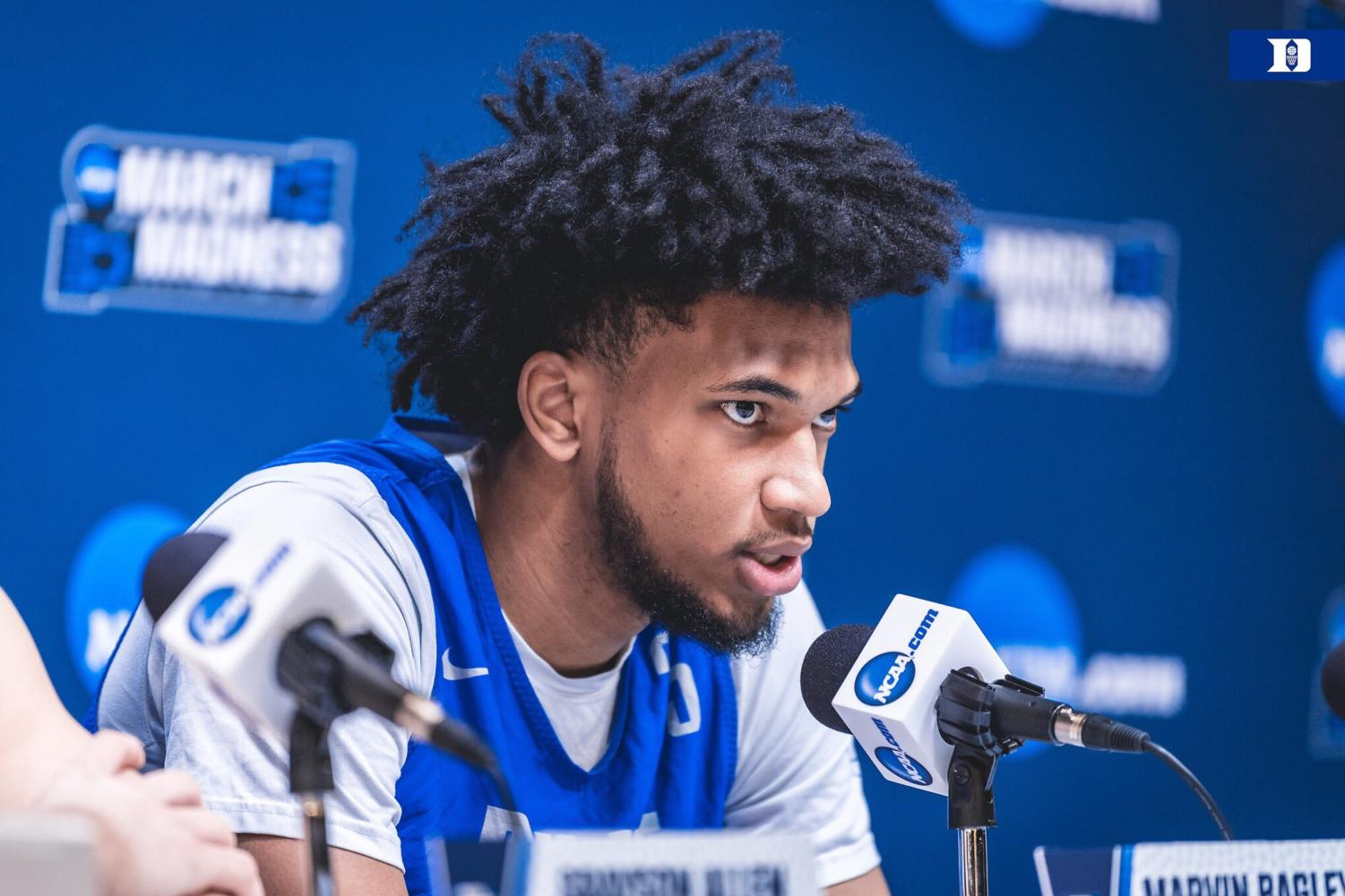 Duke forward Marvin Bagley III (pictured) is garnering serious NBA Draft buzz.
