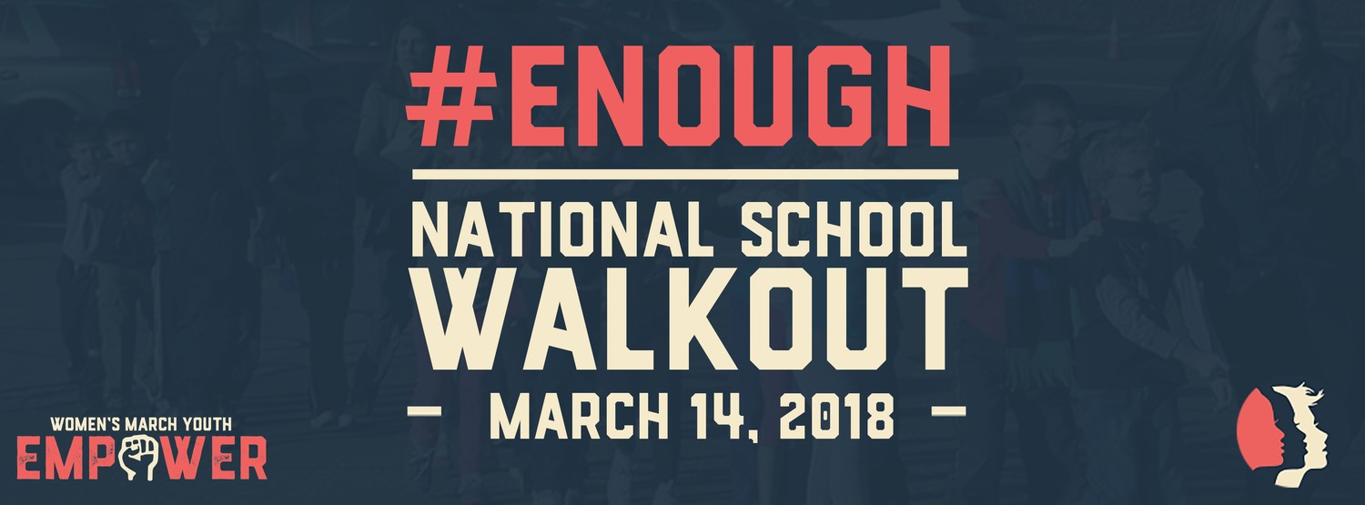 #enoughisenough trends on twitter as more and more students advocate for the nationwide school walkout and March For Our Lives.