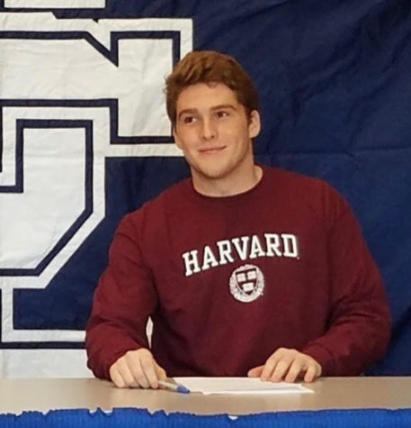 Nate Leskovec signing with Harvard.