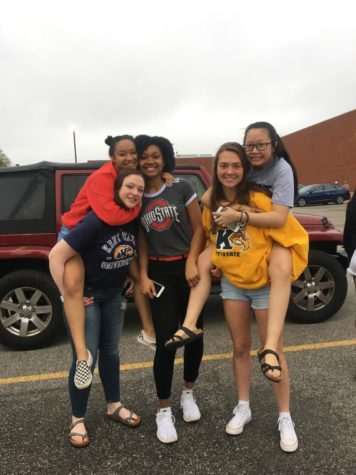 From left to right: Nya Perry, Clarice Cohn, Naeemah Story, Taylor Ellman and Melissa Lim. Taken on the last day of school for seniors.