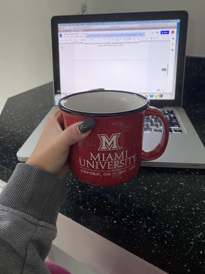 A Solon student's coffee during hybrid school Picture Credits- Jaclyn Rzepka