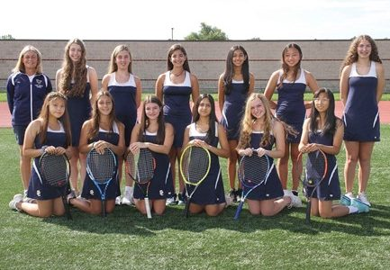 The girls JV tennis team picture from the 2020-2021 fall season. Photo Courtesy of Visual Sports