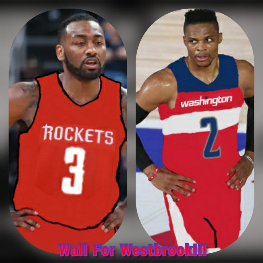 Russell Westbrook requested a trade this offseason and now joins Bradley Beal in Washington, while Houston tries to keep All-NBA guard James Harden happy by bringing in John Wall and a top 10 protected first round pick for 2023 to help for the future, in the blockbuster trade of the offseason.