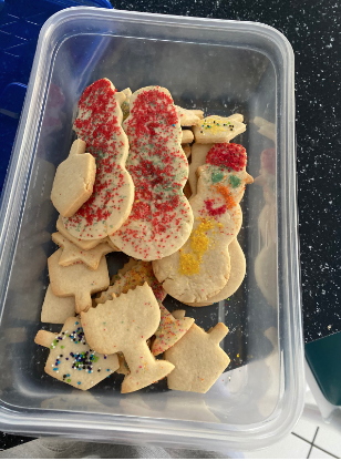 A Solon student's holiday cookies in preparation for Hanukkah.