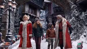 Christmas Chronicles 2 village scene.