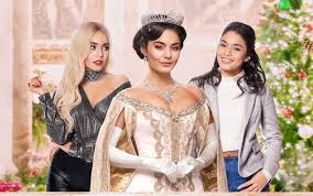 "Vanessa Hudgens in  ""Princess switch: switched again"" playing three characters"