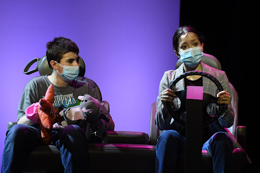 Mira Atwah, right, acts as Katherine in last years production, Freaky Friday. Photo Courtesy of Doug Wolfe
