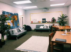 Solon High Schools Mindfulness room is a place for students to take a break and lessen their tensions in life.
