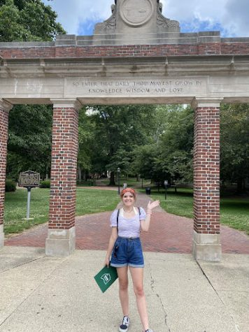 Hannah Toth attending a college visit to Ohio University.